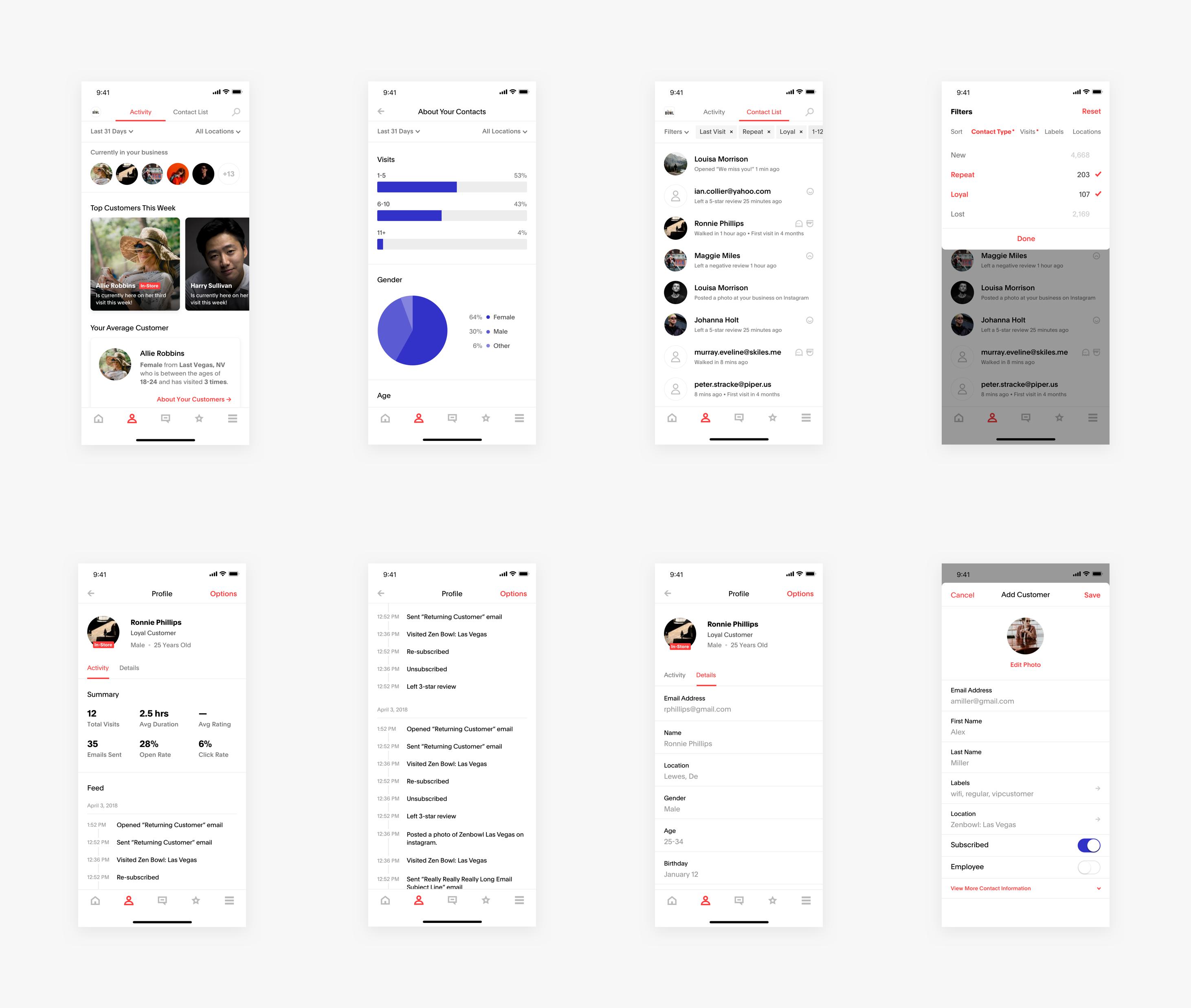 Zenreach Mobile App: Customers